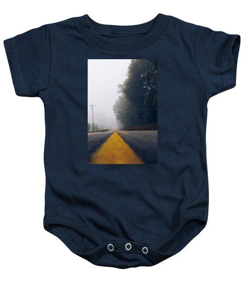 Fog On Highway Baby Onesie