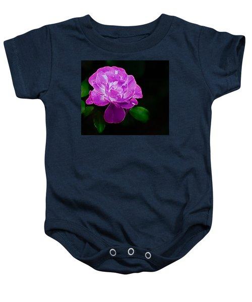 Glowing Rose II Baby Onesie