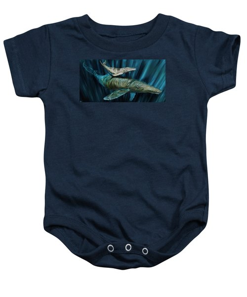 Graywhale Momma And Calf Baby Onesie