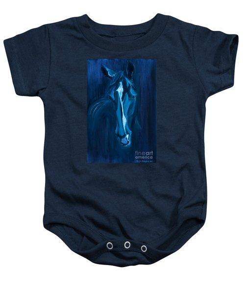 horse - Apple indigo Baby Onesie