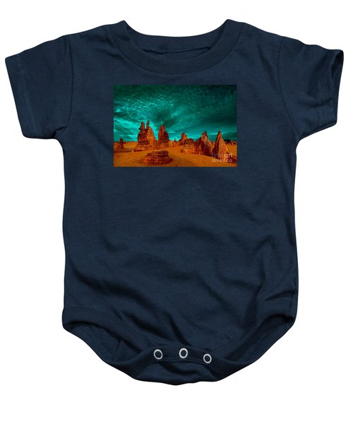 In All Directions Baby Onesie