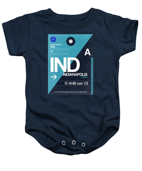Indianapolis Airport Poster 2 Baby Onesie