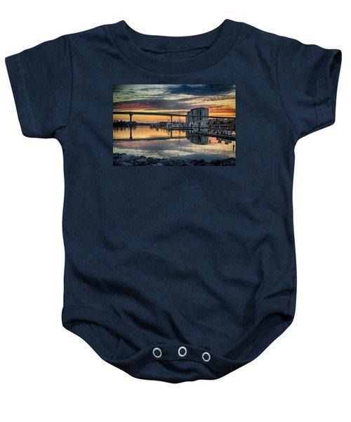 Intercoastal Waterway And The Wharf Baby Onesie