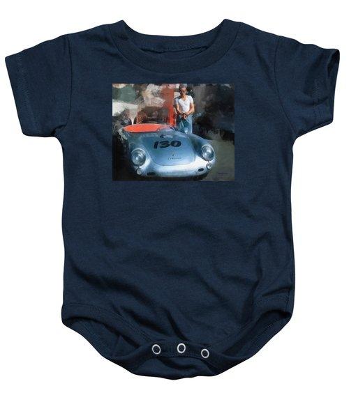 James Dean With His Spyder Baby Onesie