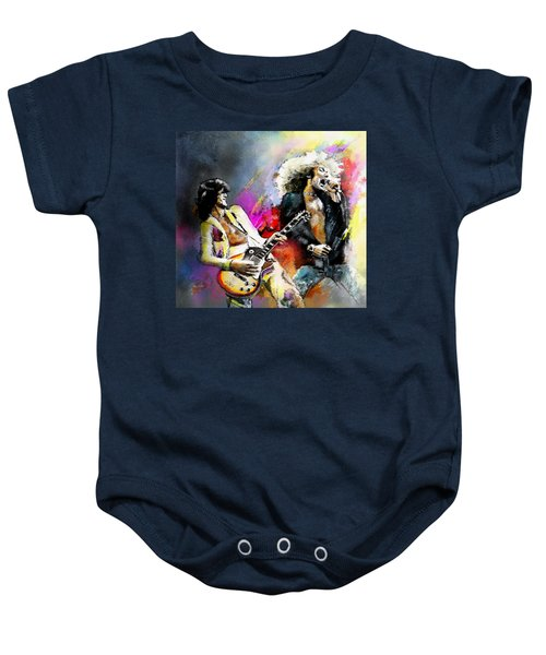 Jimmy Page And Robert Plant Led Zeppelin Baby Onesie