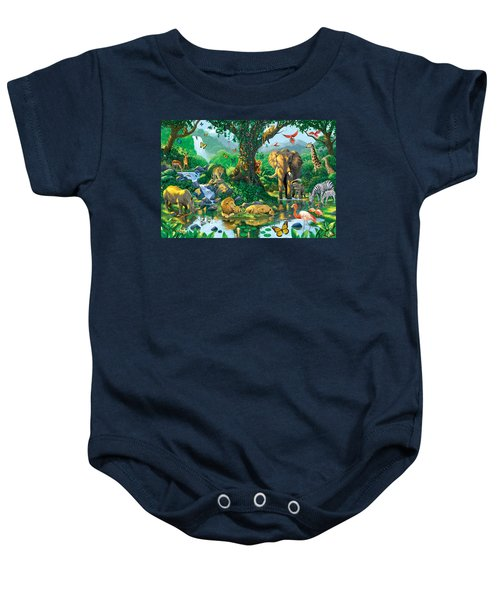 Jungle Harmony Baby Onesie by Chris Heitt