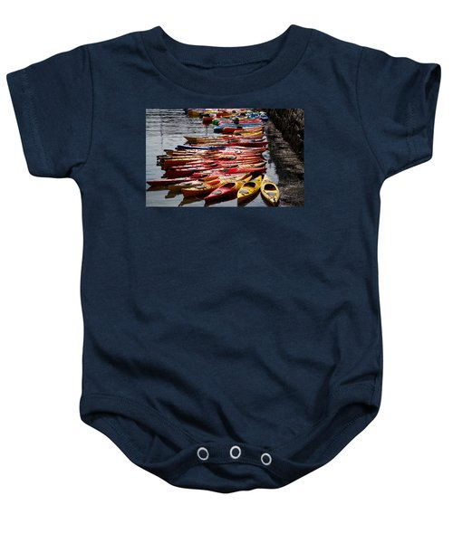 Kayaks At Rockport Baby Onesie