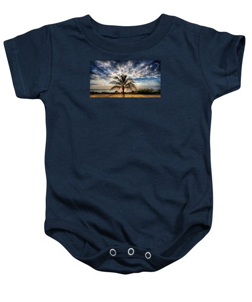 Key West Florida Lone Palm Tree  Baby Onesie