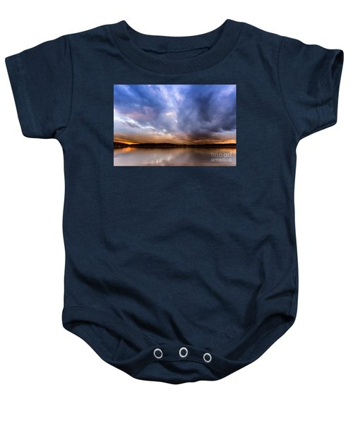 Lake Lanier Sunset Baby Onesie