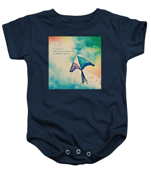 Let Me Fly Free Baby Onesie