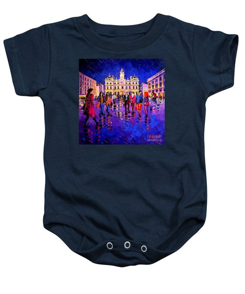 Lights And Colors In Terreaux Square Baby Onesie
