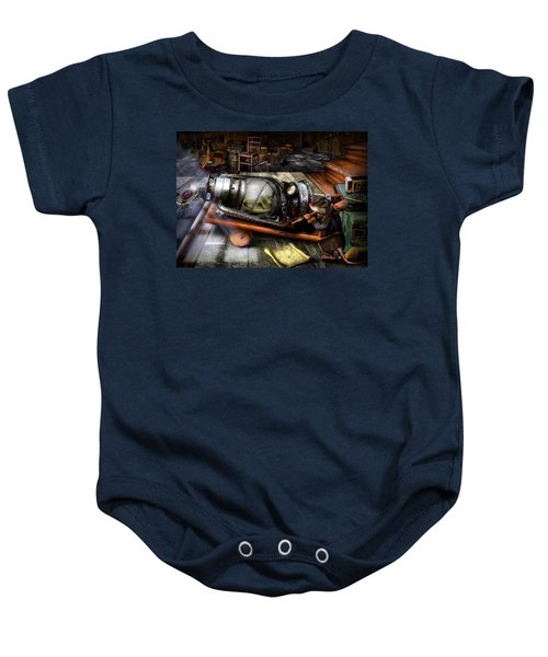 Little Mouse And The Moon Baby Onesie