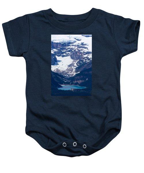 Looking Down At Lake Louise #2 Baby Onesie