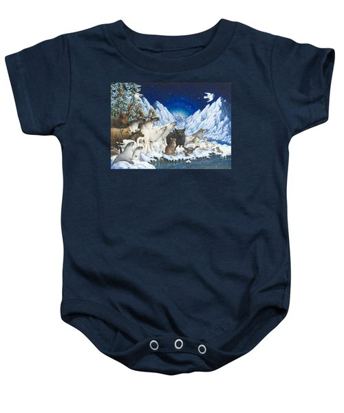Message Of Peace Baby Onesie