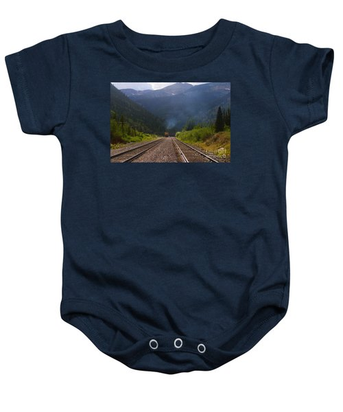 Misty Mountain Train Baby Onesie