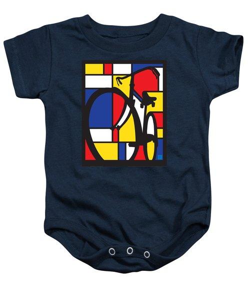 Mondrian Bike Baby Onesie