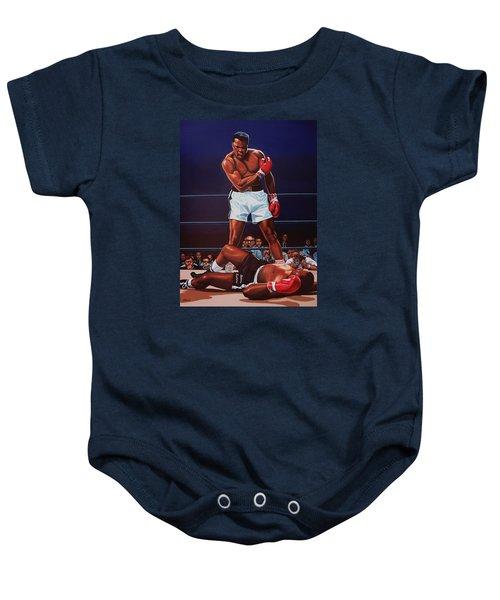 Muhammad Ali Versus Sonny Liston Baby Onesie