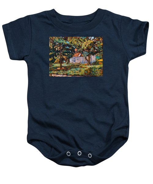 Baby Onesie featuring the painting Near The Tech Duck Pond by Kendall Kessler