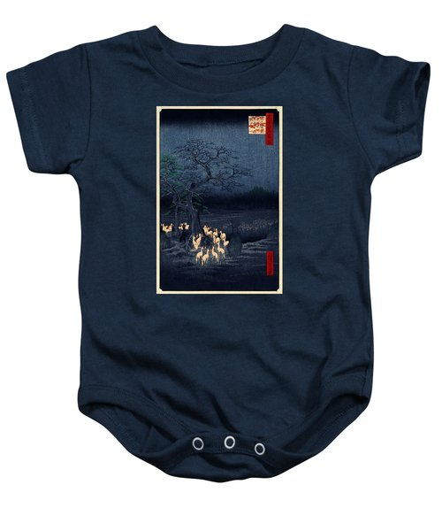 New Years Eve Foxfires At The Changing Tree Baby Onesie