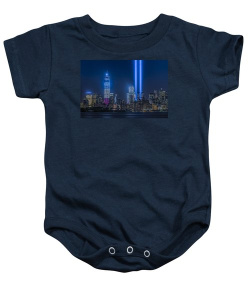 New York City Tribute In Lights Baby Onesie