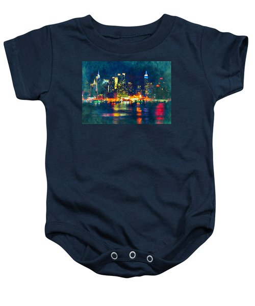New York State Of Mind Abstract Realism Baby Onesie