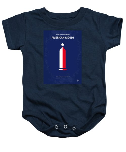 No150 My American Gigolo Minimal Movie Poster Baby Onesie by Chungkong Art
