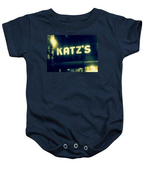 Nyc's Famous Katz's Deli Baby Onesie