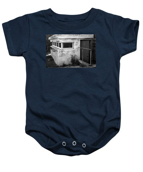 Baby Onesie featuring the photograph Old Army Lookout by Miroslava Jurcik