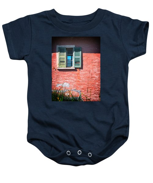 Baby Onesie featuring the photograph Old Window With Reflection by Silvia Ganora