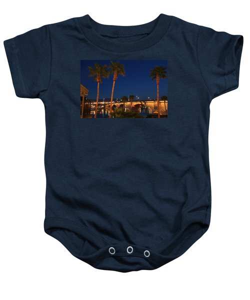 Palms At London Bridge Baby Onesie