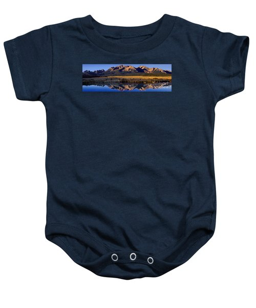 Panorama Reflections Sawtooth Mountains Nra Idaho Baby Onesie