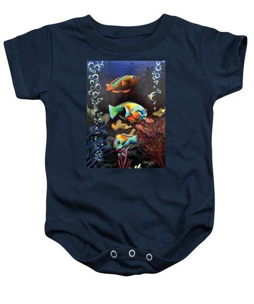 Parrot Fish Baby Onesie