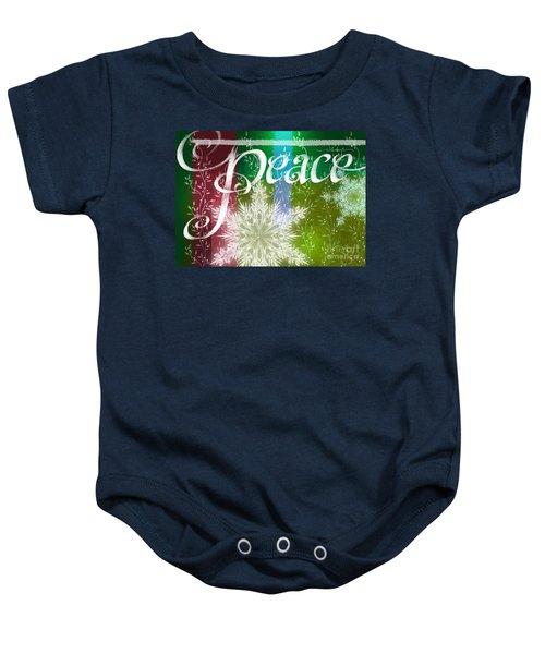 Peace Greeting Baby Onesie
