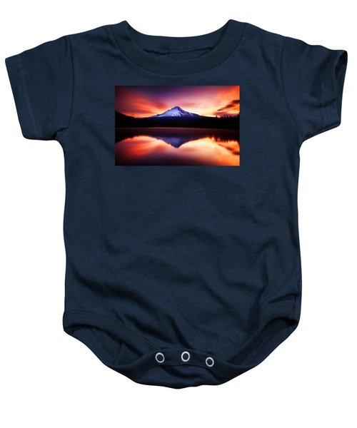 Peaceful Morning On The Lake Baby Onesie