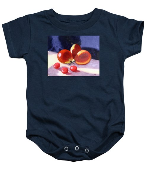 Pears And Grapes Baby Onesie