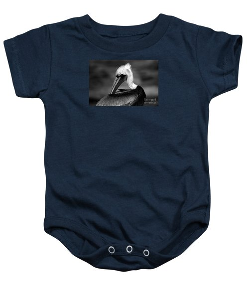 Pelican In Waves Baby Onesie