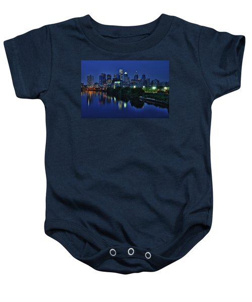 Philly Skyline Baby Onesie