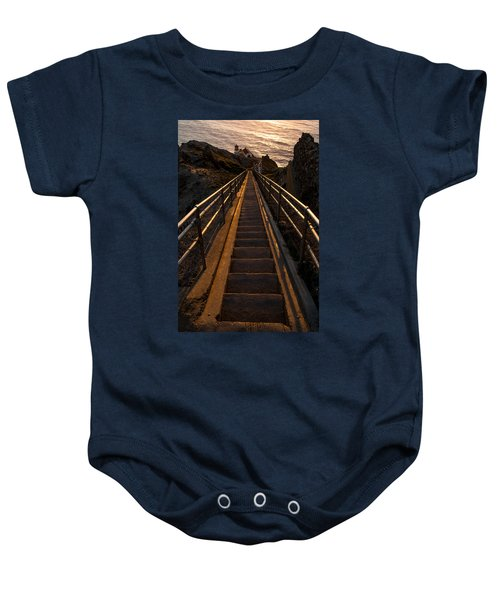 Point Reyes Lighthouse Staircase Baby Onesie