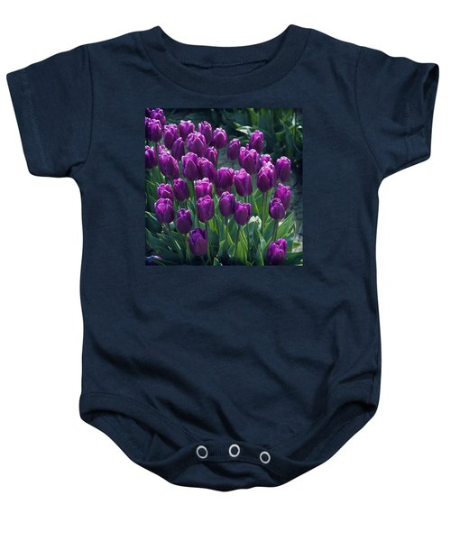 Purple Tulips Baby Onesie