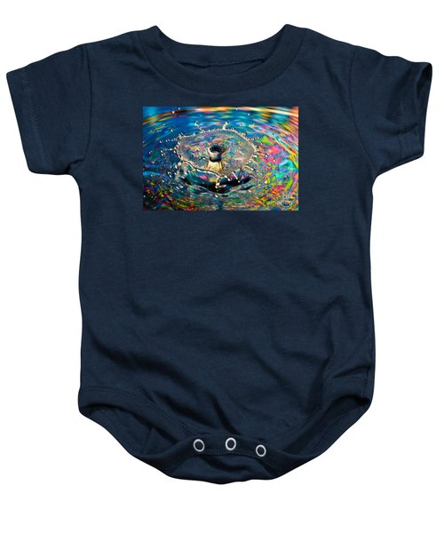 Rainbow Splash Baby Onesie