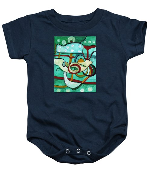 Reflective #3 Baby Onesie