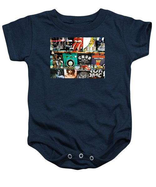 Rock And Roll On St. Marks   Nyc Baby Onesie