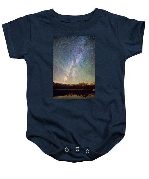 Rocky Mountains Indian Peaks Milky Way Rising Baby Onesie