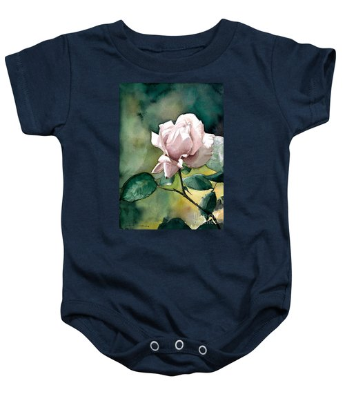 Watercolor Of A Lilac Rose  Baby Onesie