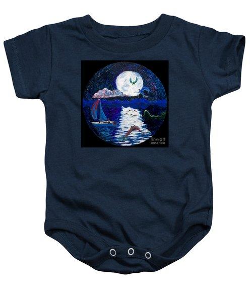 Sailing In The Moonlight Baby Onesie