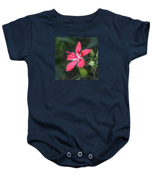 Scarlet Hibiscus #3 Baby Onesie