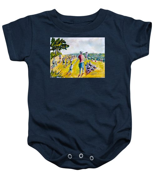 School's Out On The Beach Baby Onesie