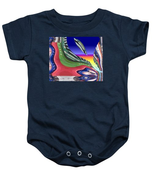 She's Leaving Home Abstract Baby Onesie