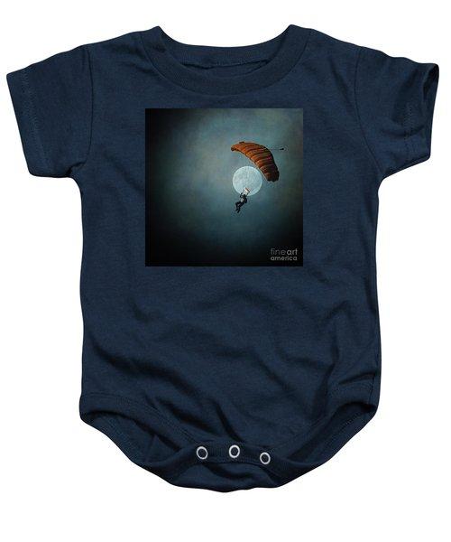 Skydiver's Moon Baby Onesie