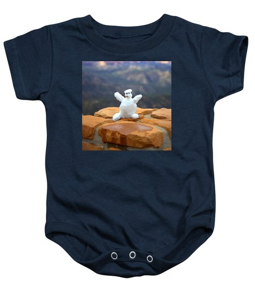 Snowman At Bryce - Square Baby Onesie